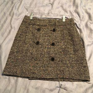 LOFT Mini Tweed Skirt